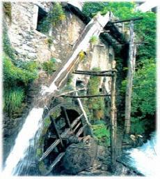 Bienno (Valcamonica). The hydraulic wheel